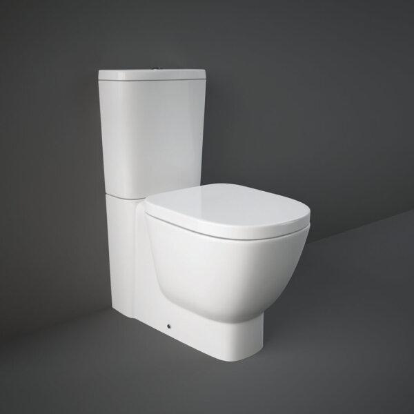 RAK ONE monoliitne wc pott, kaetud hõbeioone sisaldava glasuuriga