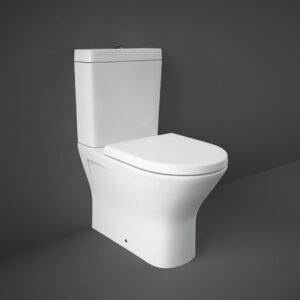 RAK RESORT RIMLESS monoliitne wc pott, kaetud hõbeioone sisaldava glasuuriga