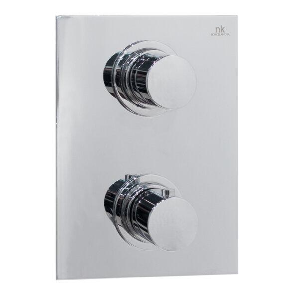 Noken URBAN 2-väljundiga seinapealset termostaadiga dušisegistit, viimistlus kroom