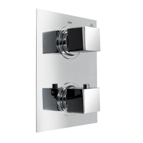Noken STOP 2-väljundiga seinapealset termostaadiga dušisegistit, viimistlus kroom