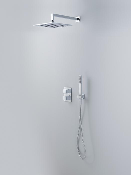 Noken Square termostaatiline dušikomplekt, viimistlus kroom