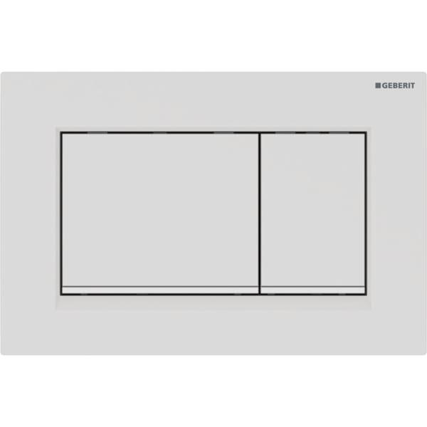 Loputusplaat Sigma30 Easy-to-Clean, valge matt, Geberit