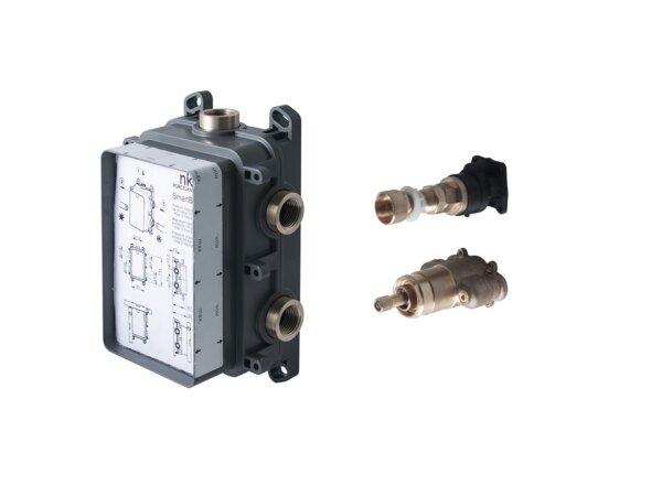 Seinasisene tööosa termostaadiga dušisegistile 2-3 väljundiga SMART BOX SLIM, Noken