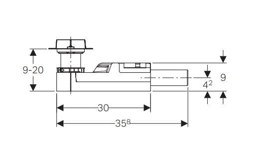 Duširenni trapp CLEANLINE SH50, GEBERIT