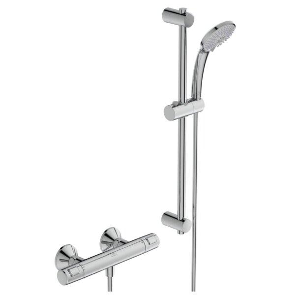 Duši- ja vannisegisti termostaadiga CERATHERM T25 koos dušilifti ja käsidušiga, kroom, Ideal Standard