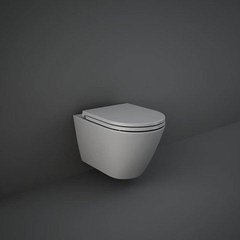 Seinapealne wc pott FEELING RIMLESS 52, matt hall, Rak