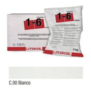 Tsemendi baasil vuugitäide 5kg LITOCHROM 1-6 C.00 Bianco