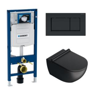 Wc komplekt (raam/loputuspaak Geberit DUOFIX SIGMA + loputusplaat SIGMA20 + wc pott SFERA NF 54)