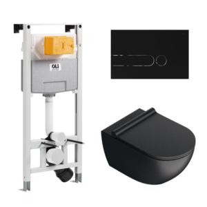 Wc komplekt (raam/loputuspaak OLI120 PLUS + loputusplaat IPLATE + wc pott SFERA NF 54)
